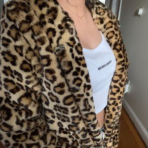 Cheetah print coat